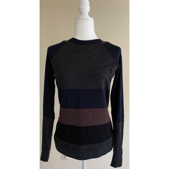 Tory Burch striped wool crewneck Sweater Logo S